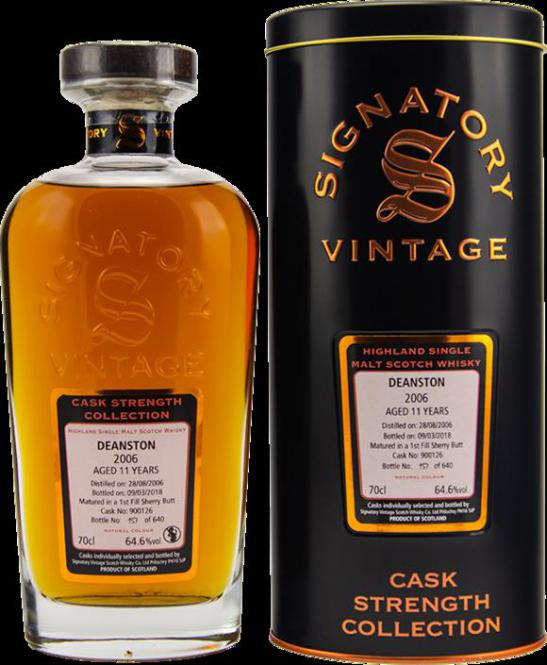 Deanston 2006 Cask Strength Sherry Cask