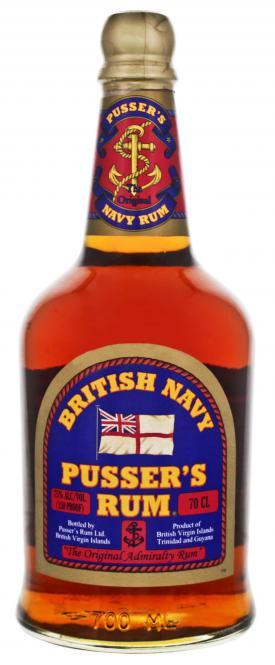 Pussers British Navy Rum Overproof 75%